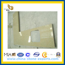 Yellow Engineered Artificial Quartz Stone Countertops for Kitchen, Bathroom(YQG-CV1029)