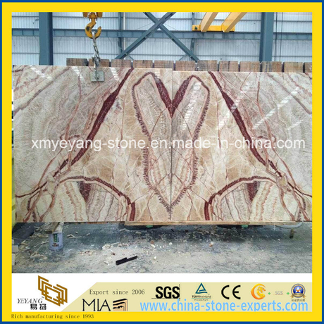 Red Dragon Jade Slab for Background Wall or Flooring