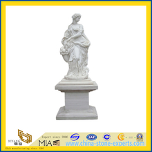 White Marble Stone Figure Statue Carving for Garden(YQG-LS1015)