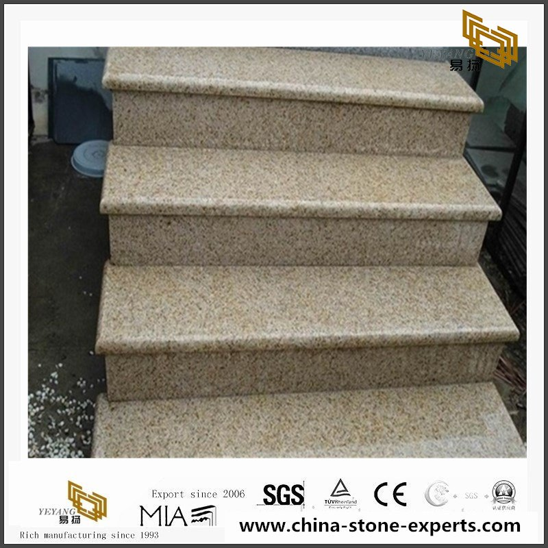 Yellow China Granite Stair Indoor Spiral Staircase Designs