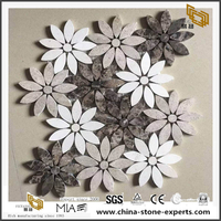 Popular Stone Tile Marble Mosaic Flowes Pattern Mosaic Outlet