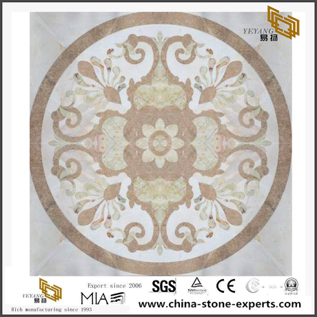 Medallion Marble Flooring Tiles Mosaics Carving Water-Jet Pattern Wholesale Online