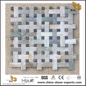 Natural Slate Mosaic Set Stone Thin Veneer For Wall Cladding Hot Sale
