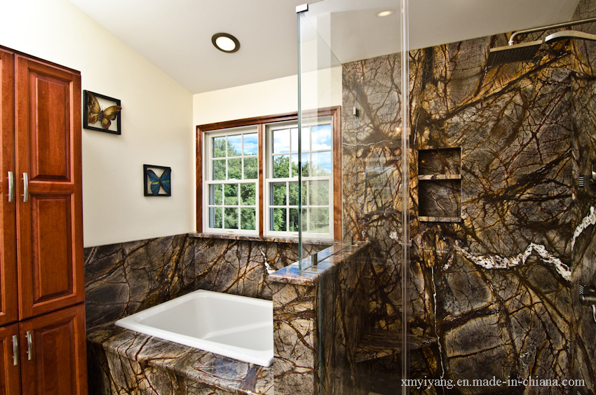 Rain Forest Green Marble Bathroom Top/Wall Tile/Kitchen Countertop