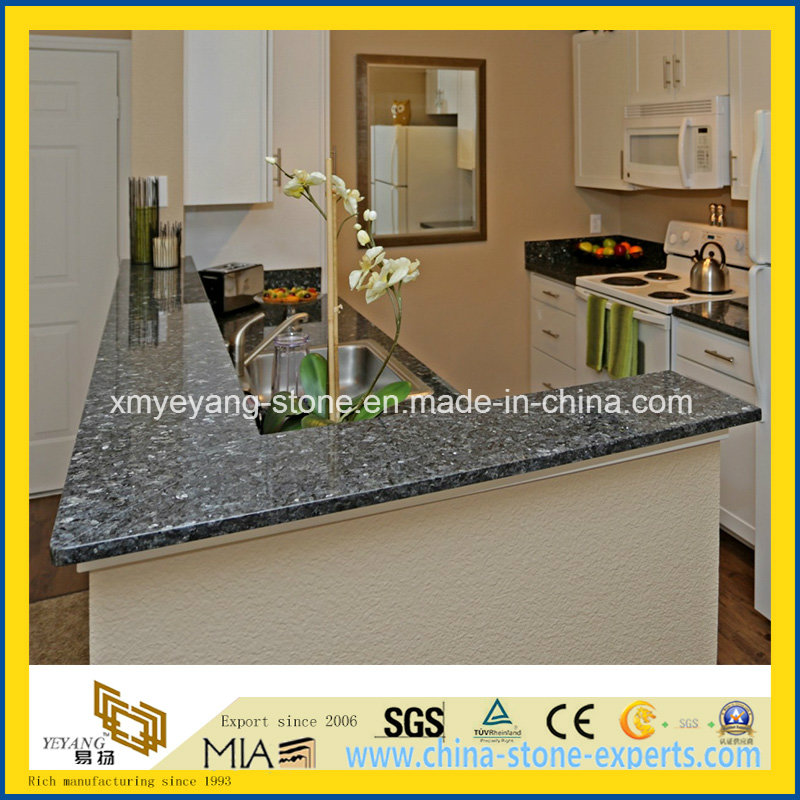 Prefab Blue Pearl Granite Counterop for Kitchen Decoration