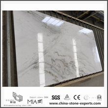 Beautiful Castro White Marble Slabs for Bathroom Decoration (YQW-MSA062901)