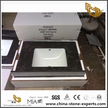 China Artificial Black Quartz Vanity Top