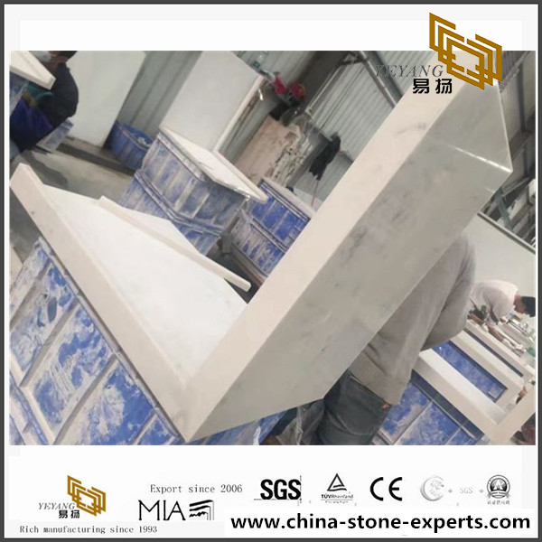 45 Degree Lamitated Quartz Countertop