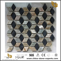 Natural Black And Grey Slate Stone Mosaic Tiles