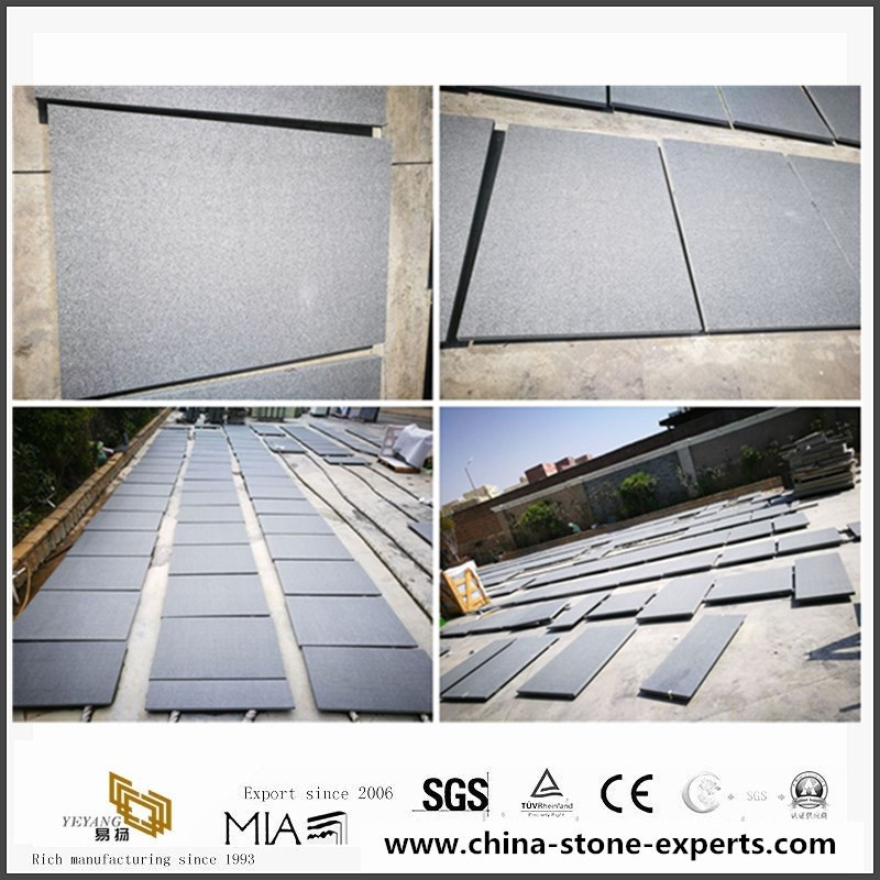 G654 Padang Grey flamed and brushed wall cladding tiles