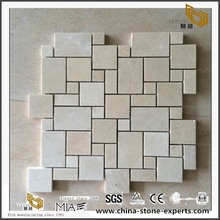 Cream Color Pattern Beige Marble And Travertine Tiles Mosaic Tiles