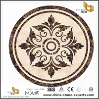 New Top Sale Stone Marble Foyers Lobby Waterjet Medallion Tiles