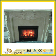 Hand Carved Natural Antique Blue Stone Limestone Fireplace (YQG-F1004)