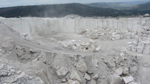 Roman travertine quarry