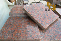 G562 Maple Red Granite Slabs for Hotel Kitchen Tiles (YQW-11009G)