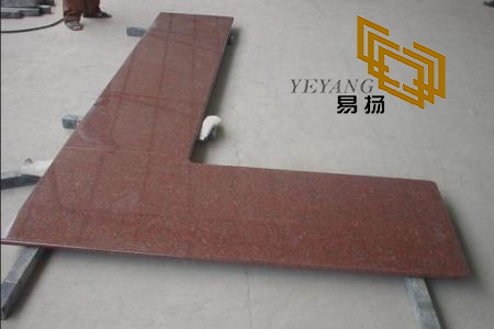 Indian Red Granite Kitchen Counter Tops For Kitchen Flooring Design