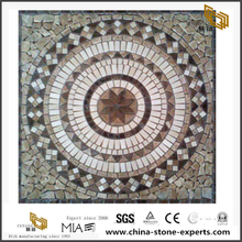 Square Patterned Marble Floor Stone Mosaic Medallion
