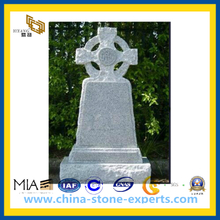 Irish Style White Granite Tombstone/ Headstone (YQZ-MN)