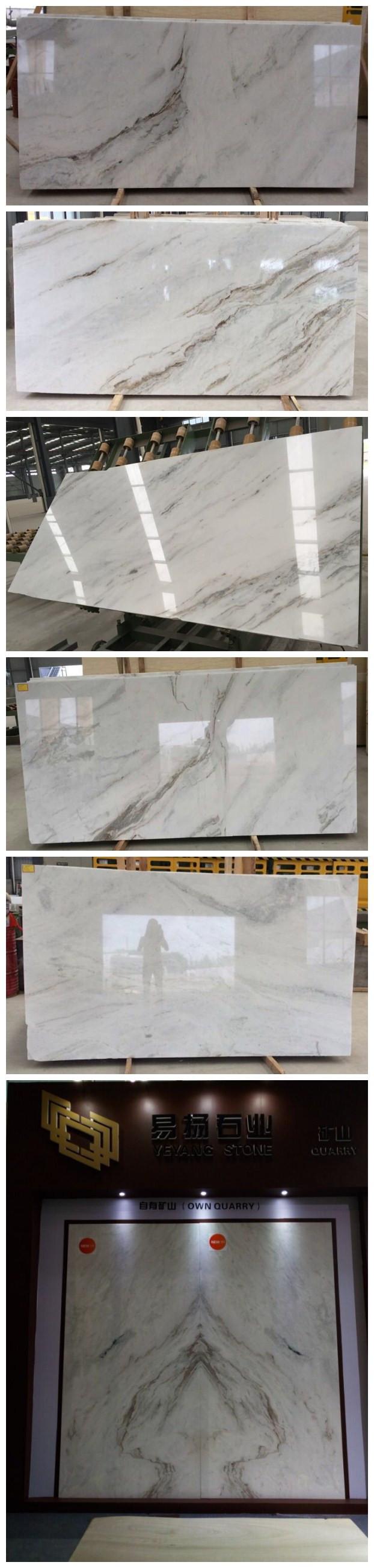 Arabescato Venato marble slabs