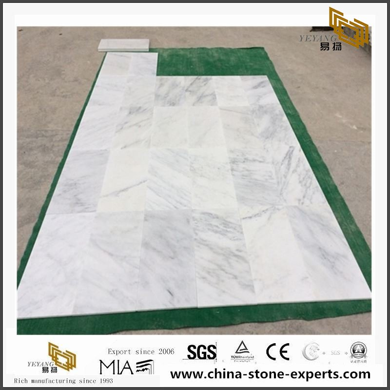 China cheap Oriental/Eastern White Marble for Vanity Tops Flooring Tiles