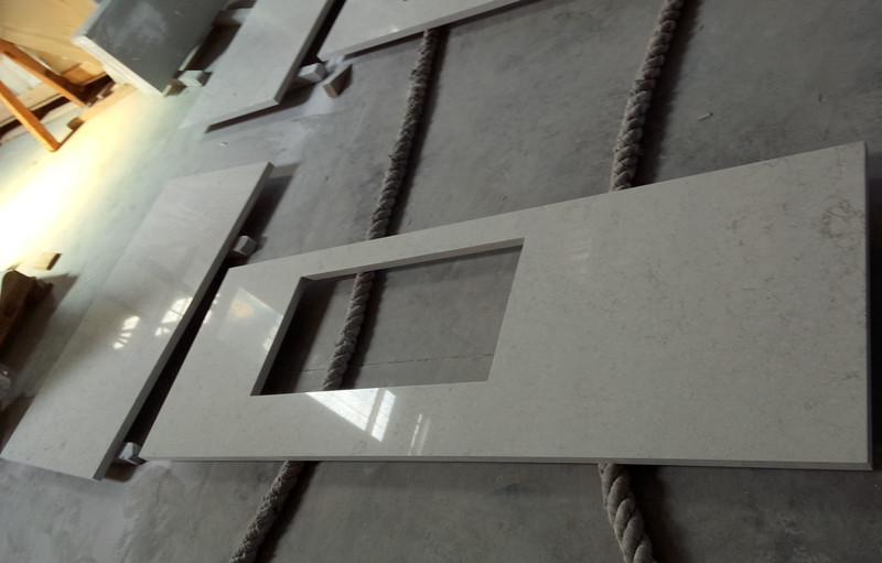Bianco Drift Quartz Countertop(YQ-6131) 1
