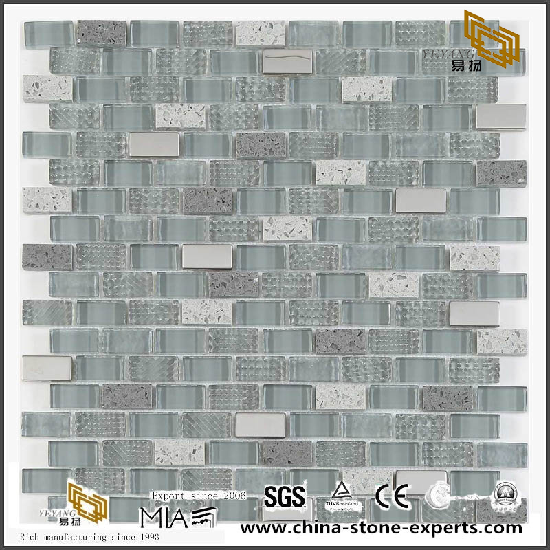 Decorative Wall Glass Tile Crystal And Stone Mosaic Good Choices