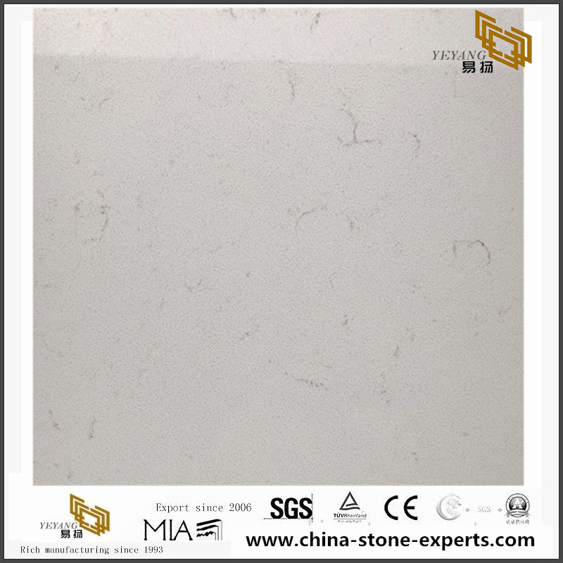New Carrara white Quartz Kitchen Countertops & Vanity tops
