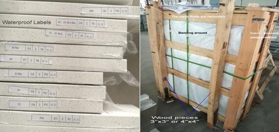 Packing Waterproof labels