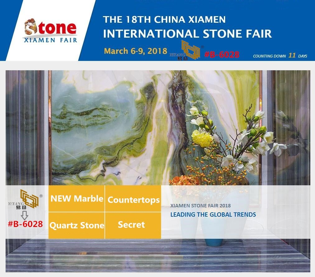 Welcome to visit YEYANG Stone Booth B6028 in Xiamen Stone Fair 2018