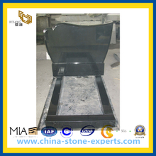 Shanxi Black Polished Memorial Tombstone (YQZ-MN)