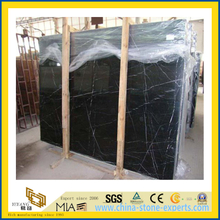 Polished Stone Nero Marquina Marble Slabs for Countertop/Vanitytop (YQC)