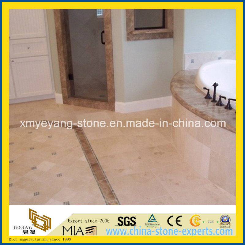 Italian Botticino Classico Marble Bathroom Floor Tile