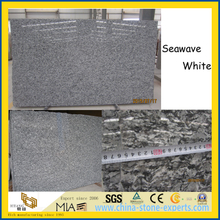 Hot Products Seawave White Granite Slabs for Stairs / Floor / Countertops