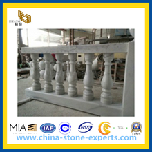 White Marble Handrails for Terrace