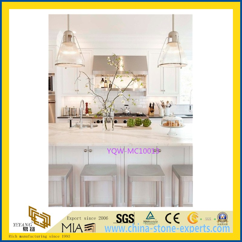 White Marble Stone Counter Top for Kitchen /Table