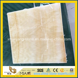 Translucent Yellow Jade Composite Glass for Interior Decoration