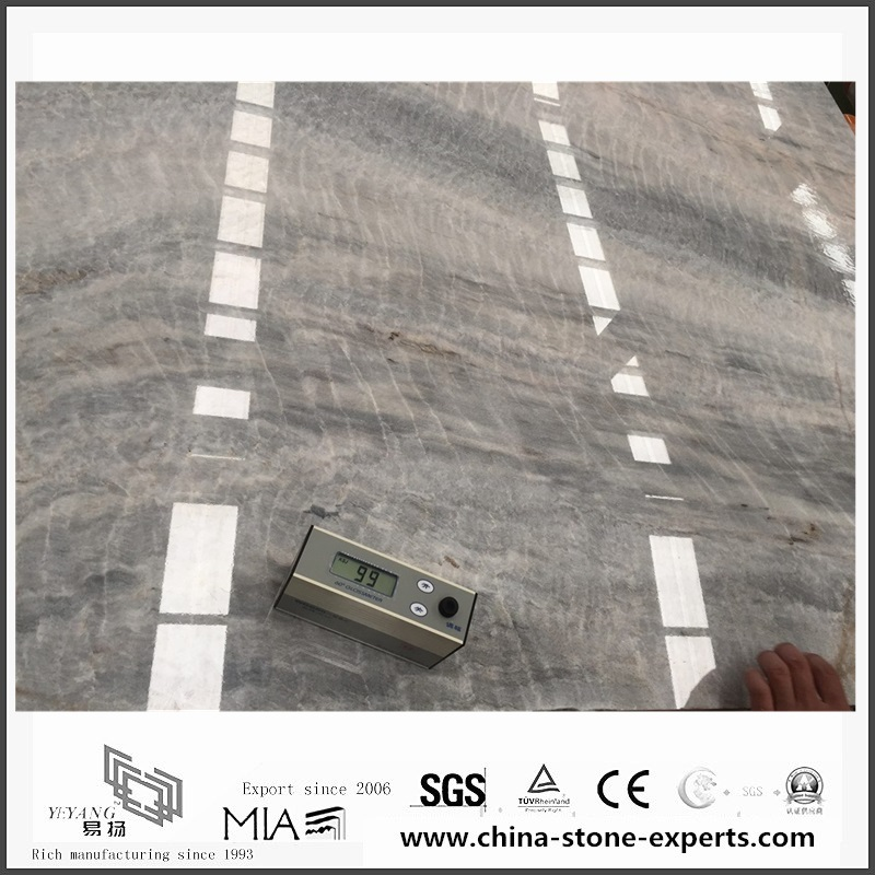 Grey Marble | Top New Vermont Grey Marble for Bathroom Wall & Floor Tiles (YQW-MS052701)