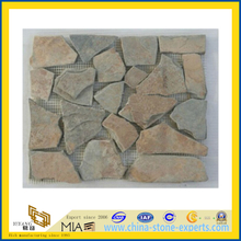 Randon Mesh Slate Mosaic for Indoor Decoration