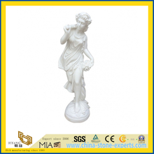 Hand Carved White Marble Figure Statue Sculpture for Garden(YQG-LS1033)