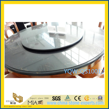Solid Surface Black Polished Artificial Quartz Stone for Dinner Table