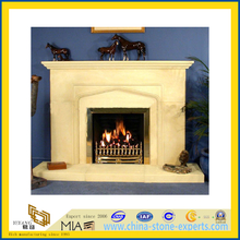 Indoor Decoration Natural Stone Marble Fireplace (YQG-F1001)