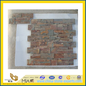 Multicolor Slate Cultural Stone for Wall Cladding (YQA-S1024)