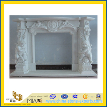 Carved Marble Stone Fireplace for Indoor and Outdoor(YQG-F1010)