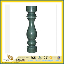Polished Green Marble Railing Baluster for Outdoor Decoration