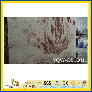 Polished White/Red Natural Stone Onyx for Hotel Background