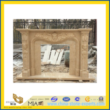 Beige Carving Marble Fireplace for Decoration (YQA)