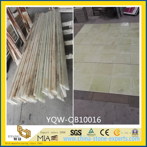 Polished Green / White Onyx Stone Tile for Wall, Flooring, Background