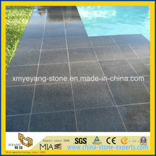 Natural Black Basalt Coping Tile / Border Tile for Pool Surrounding