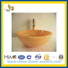 Orange Yellow Onyx Sinks for Kitchen, Bathroom (YQG-CV1037)