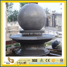 Hand Carved G603 Granite Ball Fountain for Outdoor Plaza Project